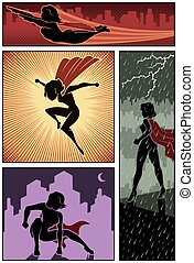 Super Heroine Banners 3