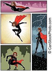 Super Heroine Banners