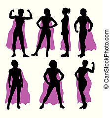 Super Lady Silhouettes