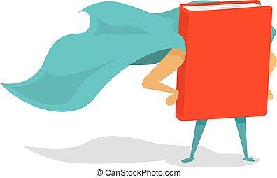super, livre, héros, cap