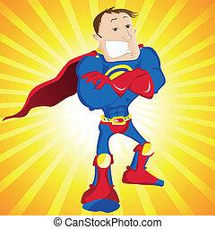 Super Man Hero Dad. Editable Vector Illustration