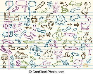 Doodle Sketch Vector Set