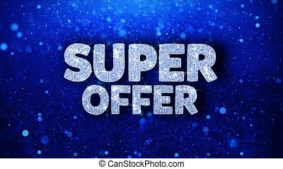 Super Offer Blue Text Wishes Particles Greetings,...