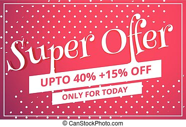 super offer sale discount voucher template design with dots pattern