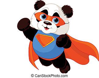 Super Panda - Illustration of Super Hero Panda