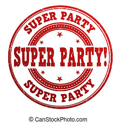 Super party stamp
