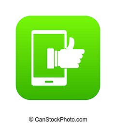 Super phone icon digital green