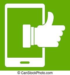 Super phone icon green