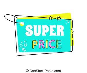 Super Price Big Sale 20 Off Sticker in Flat Style