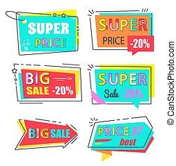 Super Price Big Sale 20 Set Stickers Flat Style
