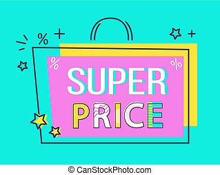 Super Price Big Sale Off Sticker Flat Style Label