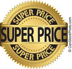 Super price golden label, vector il