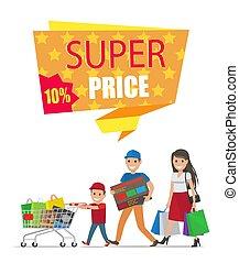 Super Price Sale Colorful Card Vector Illustration