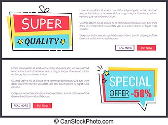 Super Quality and Offer Web Vector Illustration