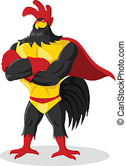 Super Rooster - Cartoon illustration of super rooster
