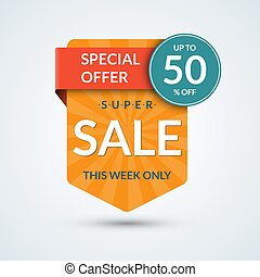 Super sale and special offer banner