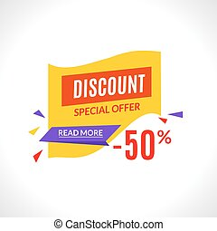 Super sale banner design template, best offer, special offer discount marketing vector illustration