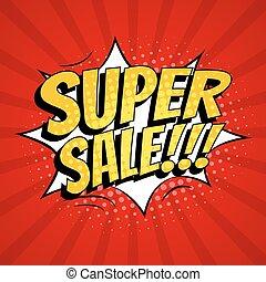 Super sale banner template design