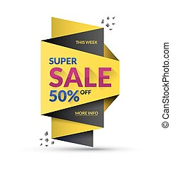Super sale design template. Vector illustration. Special offer and discount concept.