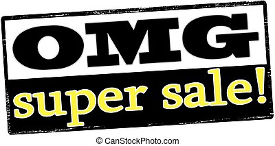 Super sale - Rubber stamp with text super sale inside,...