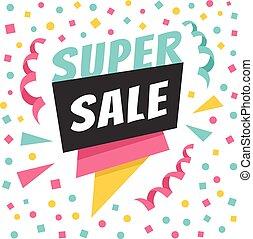 Super sale holiday paper badge
