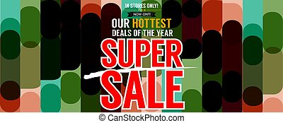 Super Sale Hottest Deal Promotion Sale Wide Banner Vector Illustration