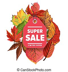 Super sale label. Limited offer.