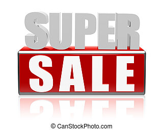 super sale - letters and block