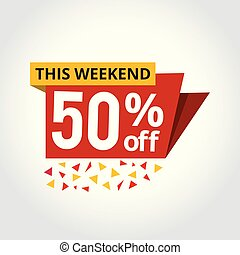 Super sale mega offer 50% off banner vector illustration