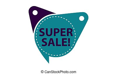 Super Sale Tag Template Isolated