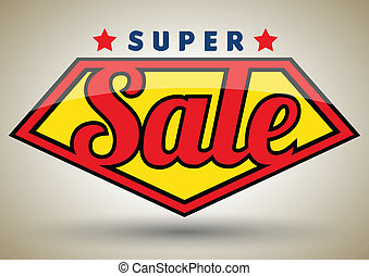 Super sale vector - Vector business concepts with icons /...