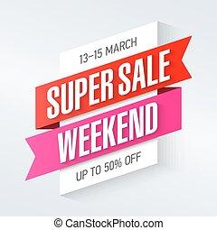 Super Sale Weekend banner