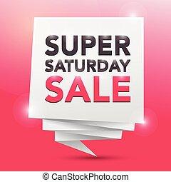 SUPER SATURDAY SALE , poster design element