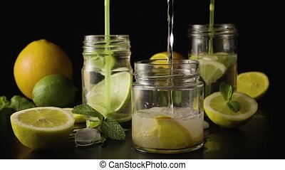 Super slow motion made lemonade