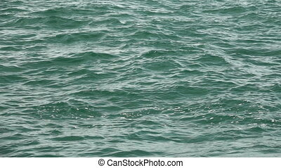 Super slow motion of sea