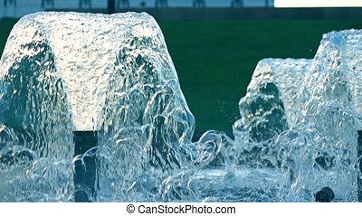 Super slow motion shot of a fountain, 240 fps