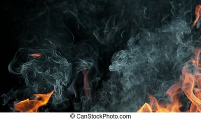 Super Slow Motion Shot of Fire Flame