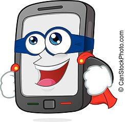 Super smartphone - Clipart picture of a super smartphone...