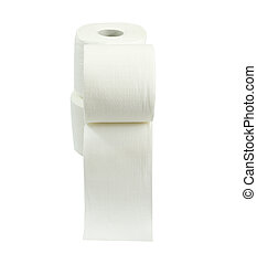 super soft bathroom tissue on a white background