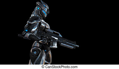 Super soldier - 3d render of a futuristic super soldier