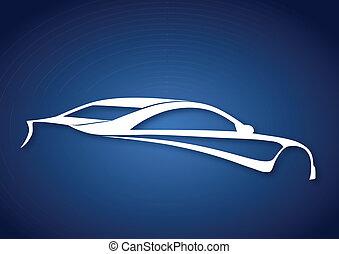 Super sport auto over blue