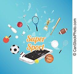 Super Sport on smartphone screen
