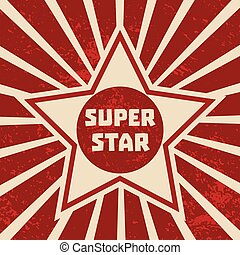 Super star banner. Starring shape. Success superstar Victory...