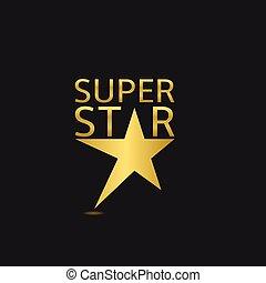Super star logo - Golden super star logo icon. Vector...