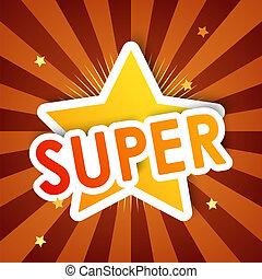 super star, vector background