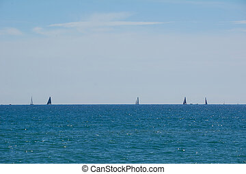 Super sunny day to sail in the Mediterranean