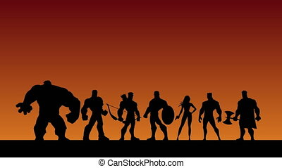 Super Team Shatter - Conceptual animation depicting team of...