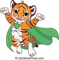 Super Tiger - Illustration of Super Hero Tiger