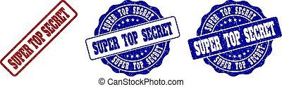 SUPER TOP SECRET Grunge Stamp Seals
