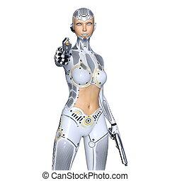 Super woman - 3D CG rendering of a super woman.